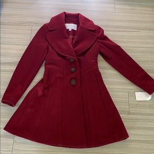 Jessica Simpson Red Trench Coat